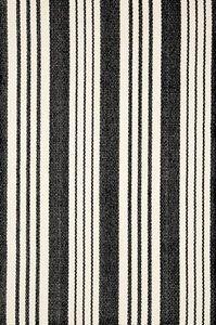 Dash & Albert Birmingham Black & White Striped Cotton Area Rugs