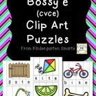 This is a great tool for students to practice learning CVCe (bossy e or silent e) words! It comes with clip art in black and white and in color. Th...
