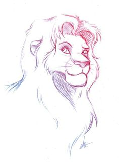 Disney art the lion king Cute Drawings, Animal Drawings, Drawing Sketches, Sketch Art, Sketching, Lion Sketch, Wolf Sketch, Awesome Drawings, Drawing Tips