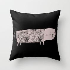 Flower pet Throw Pillow by yael frankel - $20.00