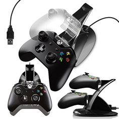 GHUB  XBOX ONE TWIN CONTROLLER DOCK Holds and charges upto 2 Game Pad Controllers during charge and can be used during Play Designed by GHUB exclusively for Microsoft XBOX ONE Control Pads *** Learn more by visiting the image link.Note:It is affiliate link to Amazon.