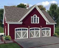 3-car Carriage House Plan