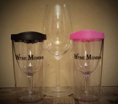 Try these Awesome Tumblers for Vino on the go and outside activities without worrying you'll break your glasses! Buy one or save when you buy 2 and you can choose your color lid ;-) www.winemomma.com