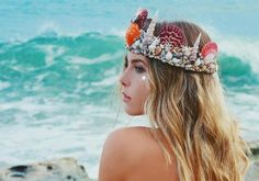 SHELL CROWN on The Hunt Halloween Cosplay, Halloween Costumes, Shell Crowns, Mermaid Crown, Lovely Creatures, Summer Memories, Merfolk, Fantasy, Mommy And Me