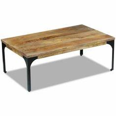 Table Basse Vidaxl Table De Salon En Bois De Teck Et Résine
