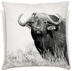 Soft and beautiful, these cushions celebrate the Big 5 in all their glory.
