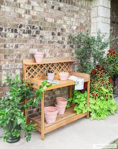How to build a DIY potting bench - plans and tutorial by Jen Woodhouse
