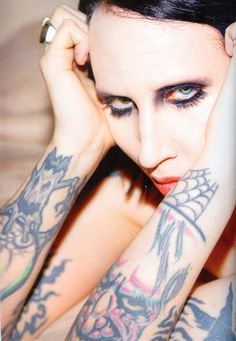 Manson... he may have gotten caught up in his stage persona (and drugs) mid-fame, but he has a beautiful mind. And I'd like to think heart, too.