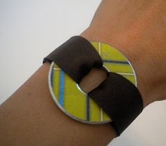 Ribbon and washer bracelet. So making this!