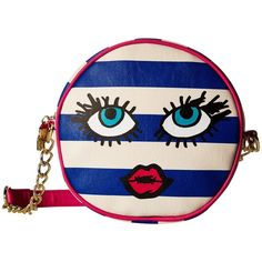 Luv Betsey Teen Crossbody (Navy/White) Cross Body Handbags ($25) ❤ liked on Polyvore featuring bags, handbags, shoulder bags, blue, quilted faux leather crossbody, hand bags, crossbody handbags, navy blue purse and chain strap crossbody