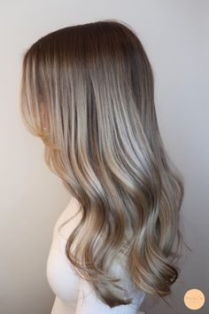 Cold blond hair color with loops