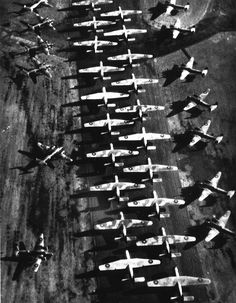 This is one of the first photographs taken of Bournemouth Airport. The photo shows the role that Bournemouth airport played during D Day with the aircraft shown being used as troop carriers. Ww2 History, Military History, Flights To Paris, Air Raid, Battle Of Britain, First Photograph, Ww2 Aircraft, D Day