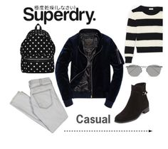 """The Cover Up – Jackets by Superdry: Contest Entry"" by gertarama ❤ liked on Polyvore featuring Superdry, Yves Saint Laurent, Current/Elliott, La Canadienne and Linda Farrow"