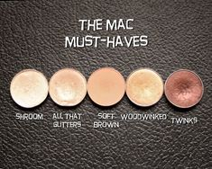 """The MAC must haves eyeshadows"