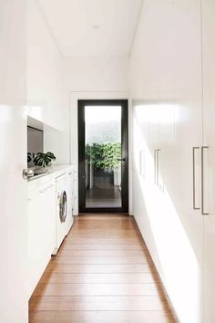 Home Renovation, creative yet captivating post number 7462771540 - Basic yet riveting home design tactic. Laundry Room Design, Laundry In Bathroom, Modern Laundry Rooms, Kitchen Design, Kitchen Tiles, Floors Kitchen, Laundry Area, Room Tiles, Kitchen Wood