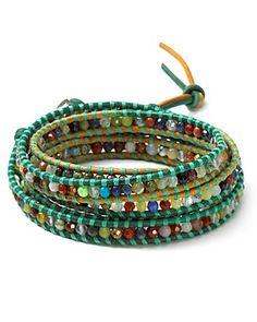 Chan Luu Berol Green Thread Five Wrap Bracelet | Bloomingdale's