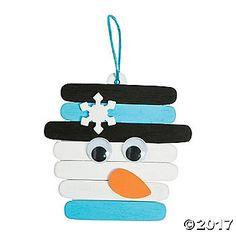 Snowman Craft Stick Ornament Craft Kit