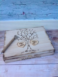 Rustic wedding guest book alternative / by FallenStarCoutureInc, $69.99 on etsy