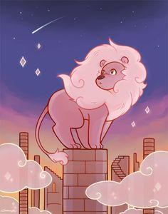 SU art,Steven universe,фэндомы,SU Персонажи,Lion (SU)