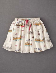 Printed Skirt  $30.40  ADORABLE! mini boden size3/4  A luxury skirt which hangs like silk and moves beautifully. Lovely prints and colours to suit everyone's taste, we hope.