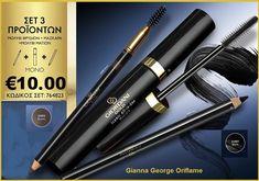 €36,15 €10,00  Είναι αδύνατον να αντισταθείτε στην ομορφιά και την αυτυοπεποίηθηση ,που σας χαρίζουν τα θρυλικά προϊόντα μακιγιαζ ματιών Giordani Gold!!Αποκτήστε τα και θα καταλάβετε το γιατί!!  Περιλαμβάνει:  Μολύβι Φρυδιών με Πινέλο Giordani Gold-33093-Brown Όλα -σε- Ένα Μάσκαρα Iconic Giordani Gold-32576 Μολύβι Ματιών Giordani Gold-31401-Black All In One, Beauty, Beauty Illustration