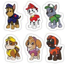 'PAW Patrol Characters' Sticker by Zuma Paw Patrol, Paw Patrol Cake, Paw Patrol Birthday, Baby Birthday, Paw Patrol Cartoon, Paw Patrol Characters, Paw Patrol Stickers, Pop Stickers, Personajes Paw Patrol