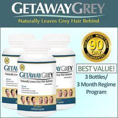 Get Away Grey - 3 Bottles/ 3 Month Regime Program - A New Natural Way to Make…