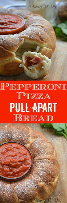 Crusty balls of pizza dough, filled with melted mozzarella cheese and sliced pepperoni– this Pepperoni Pizza Pull Apart Bread is my new definition of happiness. Indulge yourself and treat your guests with this fun Game Day appetizer.