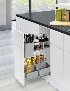 Kitchen Room Design, Kitchen Cabinet Design, Modern Kitchen Design, Kitchen Layout, Home Decor Kitchen, Interior Design Kitchen, Modern Kitchen Interiors, Modern Kitchen Cabinets, Kitchen Cabinet Accessories