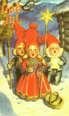 Vintage Postcards, Norway, Vintage Christmas, Ronald Mcdonald, Christmas Postcards, Christmas Ornaments, Holiday Decor, Painting, Fictional Characters