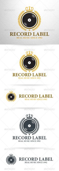 Record Label Logo Template — Vector EPS #compilation #tour • Available here → https://graphicriver.net/item/record-label-logo-template/8322506?ref=pxcr