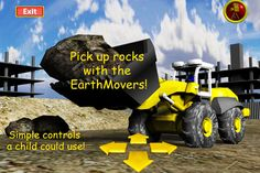EarthMovers free ($0.00) For children 2-10 !   EarthMovers is a simple and fun bobcat app for small children to play with.   With simple and intuitive controls that a small child can easy understand, the EarthMovers can be driven around the construction site just for fun, or, for those seeking something more challenging, they can try picking up rocks !