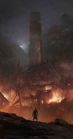 Burning Village...
