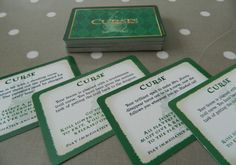 Harry Potter & The Philosopher's Stone Set of 50 Curse Cards - Board Game Spares, crafts, upcycling