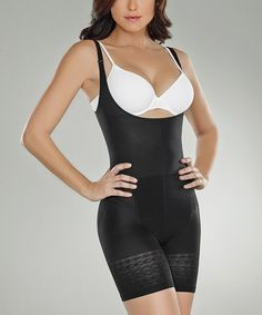 2e07c6b3548 Look at this Co CooN Black Thermal Under-Bust Shaper Bodysuit - Women on