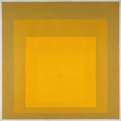 Study for Homage to the Square, Departing in Yellow (1964), Josef Albers (oil)