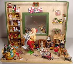 Two Dollhouse Miniatures Counry Santas Fireplace Screen Kit byTwelfth Dimension