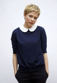 {Michelle's pixie} sweet peter pan collar, too ... Super tempted to cut my hair like this
