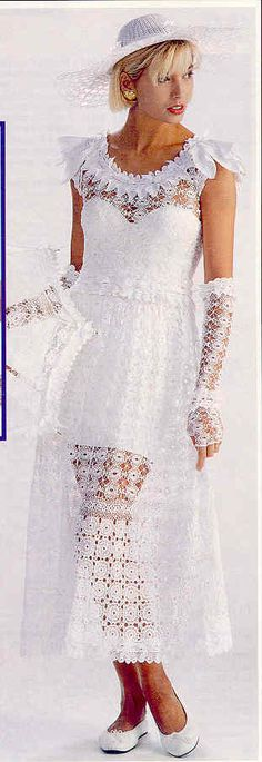 crochet wedding dress -  with pattern in English!! wow!