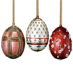 russian imperial large egg christmas ornament set christmas ornaments holiday preview the met