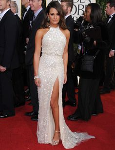Lea Michele Golden Globes 2013 by Elie Saab