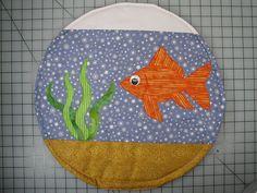 neat idea ... fish bowl cat quilt