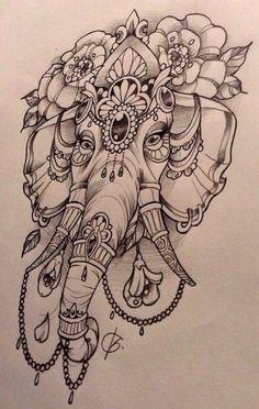 Elephant design, by Nina, Beautiful Freak Tattoo, Belgium … - Tattoo-Ideen Mandala Elephant Tattoo, Elephant Tattoo Design, Elephant Design, Elephant Thigh Tattoo, Indian Elephant Tattoos, Colorful Mandala Tattoo, Elephant Tattoo Meaning, Colorful Elephant Tattoo, Mandala Tattoo Meaning