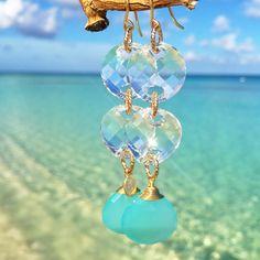 BECK Double Swarovski Earrings - www.beckjewels.com #tropicaljewels #tropicaldestinations #cayman