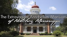 Taking home tours of the antebellum mansions located in Natchez, Mississippi including Longwood, Rosalie, and Stanton Hall. Columbus Mississippi, Natchez Mississippi, Vacation Destinations, Vacation Trips, Vacation Travel, Weekend Trips, Texas Travel, Travel Usa, Natchez Trace