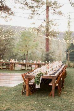 Gorgeous Summer Wedding Decoration Ideas Can You Try - Wedding Reception Ideas Outdoor Wedding Reception, Reception Table, Rustic Wedding, Outdoor Weddings, Cowboy Weddings, Wedding Simple, Barn Weddings, Wedding Tables, Reception Ideas