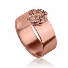 14K Rose Gold Blossom Ring , Flower Gold Ring , Floral Band , Floral Gold Ring , Rose Gold Band , Gold Flower Band