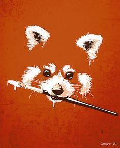 "Red panda, ""Ailuridae"" by Nathan Davis"