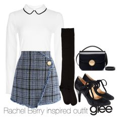 """Rachel Berry inspired outfit"" by tvdsarahmichele ❤ liked on Polyvore featuring Hobbs, A Détacher, Chicwish, Avon and Marni"
