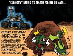 Curiosity life on Mars...I love Marvin and K9. They are forever on my skin :))